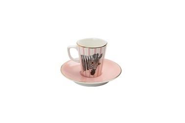 Porland Wild Life Zebra Tabaklı Kahve Fincanı 75Cc Renkli